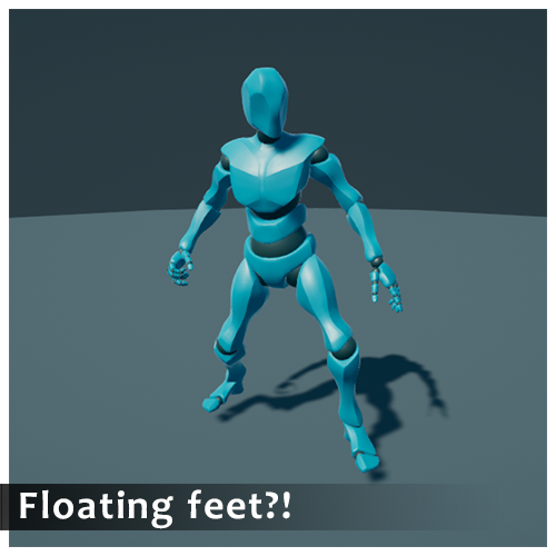 Tutorial : How to fix floating feet when using Mecanim to share humanoid animations in Unity