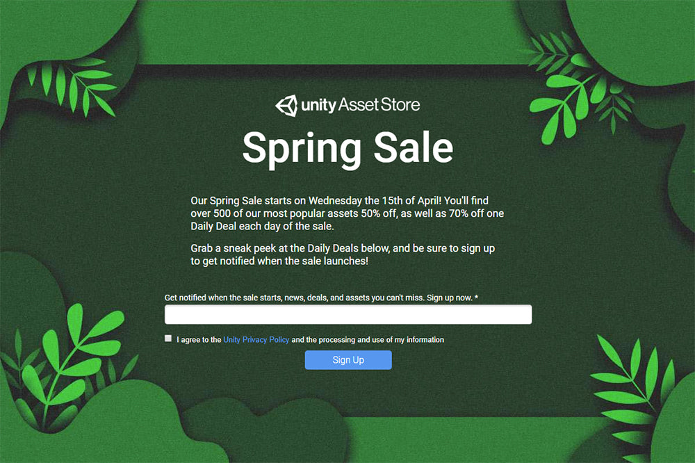 Unity's Spring Sale. Up to 70% off!