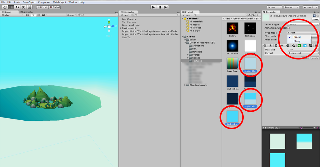 Unity Tutorial : How to remove seams on skybox in Unity game engine?