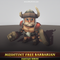 Meshtint Free Barbarian Mesh Tint Shop3DSA Unity3D Game Low Poly Download 3D Model