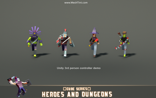 CUBE - Heroes and Dungeons Pack
