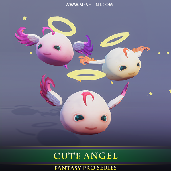 Cute Angel 1.3 Mesh Tint Shop3DSA Unity3D Game Low Poly Download 3D Model