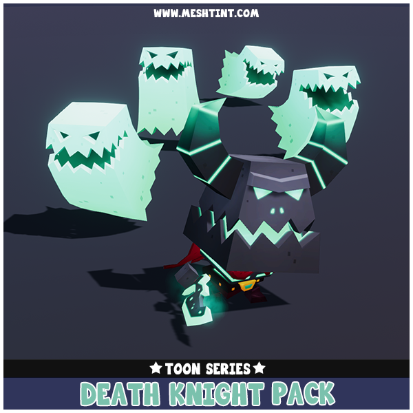 Toon Death Knight Pack 1.1 Mesh Tint Shop3DSA Unity3D Game Low Poly Download 3D Model