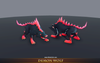 Demon Wolf Mesh Tint Shop3DSA Unity3D Game Low Poly Download 3D Model