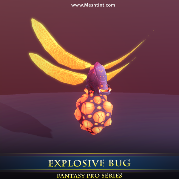 Explosive Bug Mesh Tint Shop3DSA Unity3D Game Low Poly Download 3D Model