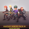 Fantasy Heroes Pack 01 Mesh Tint Shop3DSA Unity3D Game Low Poly Download 3D Model