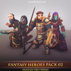 Fantasy Heroes Pack 02 Mesh Tint Shop3DSA Unity3D Game Low Poly Download 3D Model