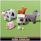 Farm Animals Mega Toon Goat Sheep Chicken Chick Pig Donkey Cow Meshtint 3d boxy low poly cute