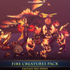 Fire Creatures Pack Mesh Tint Shop3DSA Unity3D Game Low Poly Download 3D Model