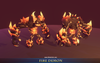 Fire Demon Mesh Tint Shop3DSA Unity3D Game Low Poly Download 3D Model
