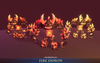 Fire Creatures Pack 1.2 Mesh Tint Shop3DSA Unity3D Game Low Poly Download 3D Model