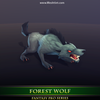 Forest Wolf Mesh Tint Shop3DSA Unity3D Game Low Poly Download 3D Model