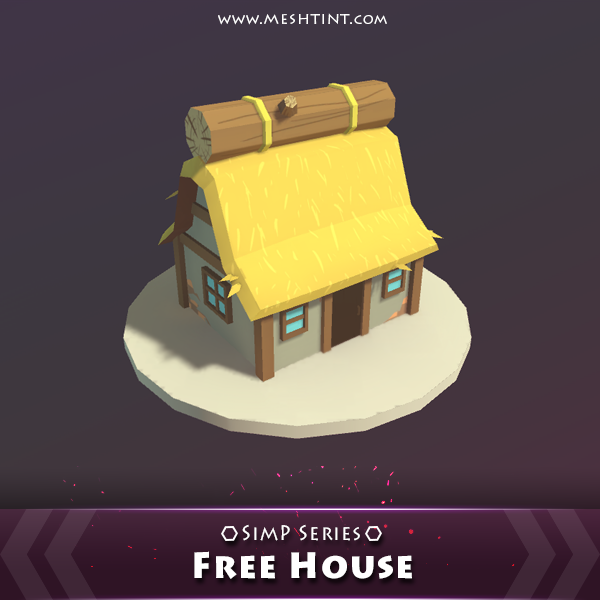 Free House SimP Series Mesh Tint Shop3DSA Unity3D Game Low Poly Download 3D Model