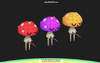 Sparkle Series Fungi Mesh Tint Shop3DSA Unity3D Game Low Poly Download 3D Model