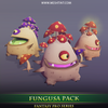 Fungusa Pack 1.1 Mesh Tint Shop3DSA Unity3D Game Low Poly Download 3D Model