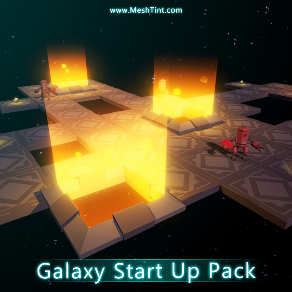 Galaxy Start Up Pack Mesh Tint Shop3DSA Unity3D Game Low Poly Download 3D Model