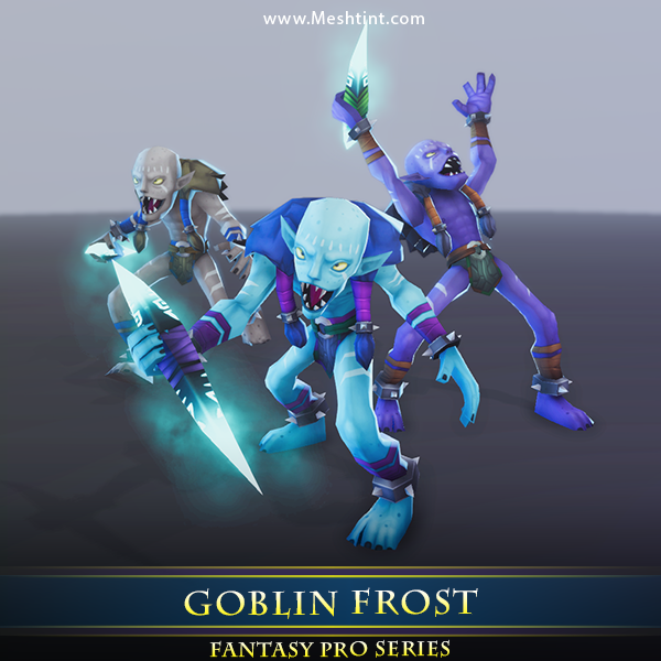 Goblin Frost Mesh Tint Shop3DSA Unity3D Game Low Poly Download 3D Model