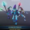Goblin Mage Mesh Tint Shop3DSA Unity3D Game Low Poly Download 3D Model