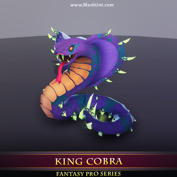 King Cobra Mesh Tint Shop3DSA Unity3D Game Low Poly Download 3D Model