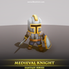 Medieval Knight 1.7 Mesh Tint Shop3DSA Unity3D Game Low Poly Download 3D Model