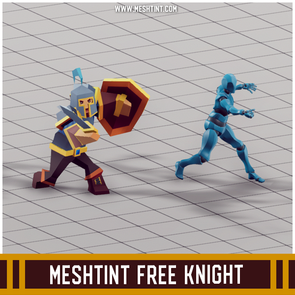 Meshtint Free Knight Mesh Tint Shop3DSA Unity3D Game Low Poly Download 3D Model