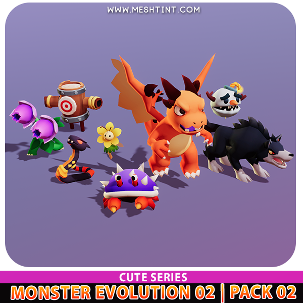 Monster Evolution 02 | Pack 02 | Cute Series