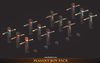 Peasant Boy Pack 1.2 Mesh Tint Shop3DSA Unity3D Game Low Poly Download 3D Model