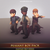 Peasant Boy Pack Mesh Tint Shop3DSA Unity3D Game Low Poly Download 3D Model
