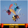 Polygonal - Giant Bee Mesh Tint Shop3DSA Unity3D Game Low Poly Download 3D Model