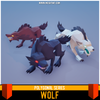 Polygonal - Wolf Mesh Tint Shop3DSA Unity3D Game Low Poly Download 3D Model
