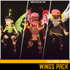 Polygonal Wings Pack Mesh Tint Shop3DSA Unity3D Game Low Poly Download 3D Model