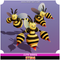 Sting Bee Cute Series Mesh Tint Shop3DSA Unity3D Game Low Poly Download 3D Model
