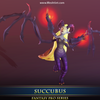 Succubus 1.2 Mesh Tint Shop3DSA Unity3D Game Low Poly Download 3D Model