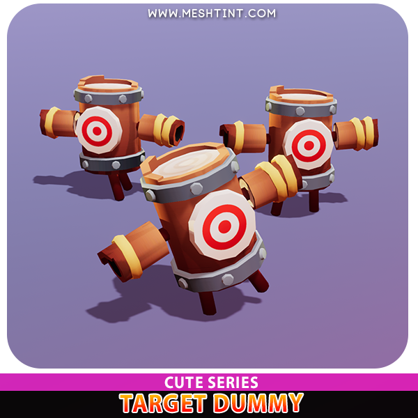 Target Dummy Cute Meshtint 3d model unity low poly game fantasy creature monster