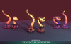 Tentacle Monster - Mesh Tint - Shop3DSA - Unity - 3D - Game - Low - Poly - Model - Animation