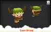 Toon Druid Mesh Tint Shop3DSA Unity3D Game Low Poly Download 3D Model
