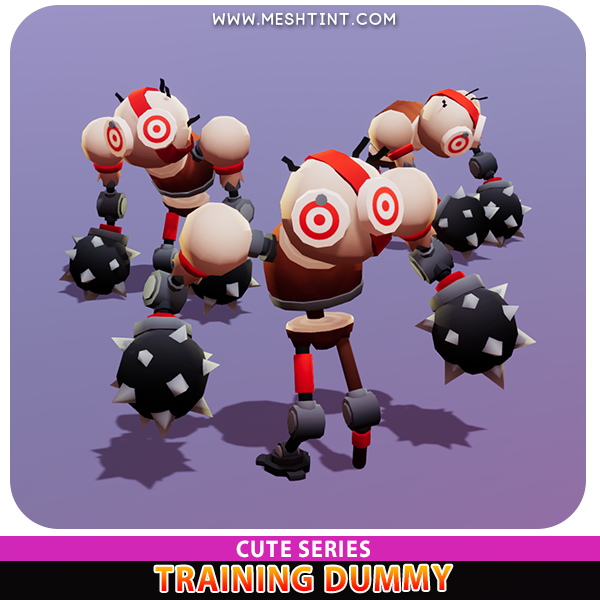 Training Dummy Cute Target tutorial prototype Meshtint 3d model unity low poly game fantasy