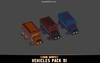 CUBE - Vehicles Pack 01 Mesh Tint Shop3DSA Unity3D Game Low Poly Download 3D Model