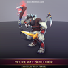 WereRat Soldier Mesh Tint Shop3DSA Unity3D Game Low Poly Download 3D Model