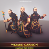 Wizard Mage Garmon Mesh Tint Shop3DSA Unity3D Game Low Poly Download 3D Model