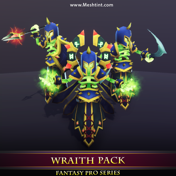 Wraith Pack Mesh Tint Shop3DSA Unity3D Game Low Poly Download 3D Model