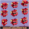 Boximon Animations Pack Mega Toon Series Mesh Tint Shop3DSA Unity3D Game Low Poly Download 3D Model