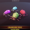 Crawling Bug Mesh Tint Shop3DSA Unity3D Game Low Poly Download 3D Model