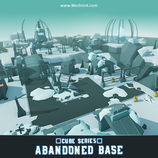 CUBE Abandoned Base sci fi Meshtint 3d model character unity low poly game environment building