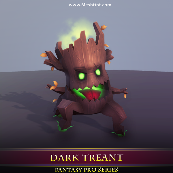 Dark Treant - Mesh Tint - Shop3DSA - Unity - 3D - Game - Low - Poly - Model - Animation