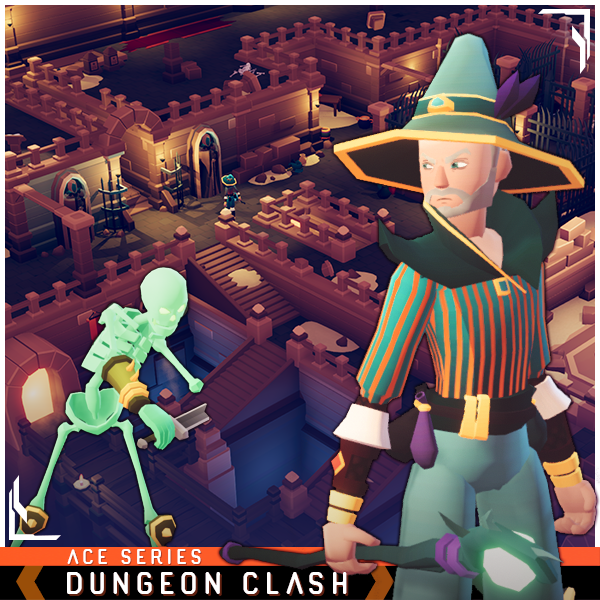 Dungeon Clash Ace Series Mesh Tint Shop3DSA Unity3D Game Low Poly Download 3D Model