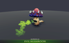 Evil Mushroom Mesh Tint Shop3DSA Unity3D Game Low Poly Download 3D Model