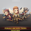 Female Archer Treka Mesh Tint Shop3DSA Unity3D Game Low Poly Download 3D Model