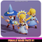 Meshtint 3d model modular character unity low poly game fantasy sorceress wizard Female Mage Cute