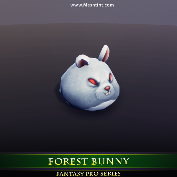 Forest Bunny 1.4 Mesh Tint Shop3DSA Unity3D Game Low Poly Download 3D Model